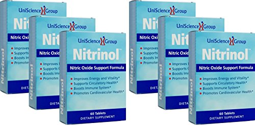 Nitrinol, Natural Nitric Oxide Booster with Beetroot Extract, 60 Tablets, 6 Box Deal as Low as $29.99 Each by UniScience Group