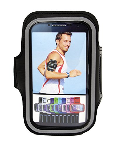 Price comparison product image Armband for iPhone 7/6/6S Plus, LG V20 K7 G5, Galaxy s7 s6 s5 Edge,Moto G ,HTC One (fits Otterbox Defender / Lifeproof case) ArmTrek Pro Sport Exercise Running Pouch Key Holder - Hiking,Biking,Walking