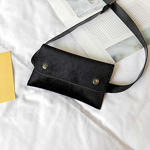 Leather Bag Bag Chest Bag Mini Women Messenger Waist Black Winkey Bag Shoulder cnTxwR