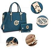 Dasein Handbags for Women Top Handle Bag Satchel Purse Frame Tote Briefcase