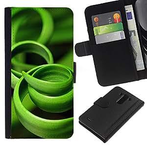 LG G3 / D855 / D850 / D851 Modelo colorido cuero carpeta tirón caso cubierta piel Holster Funda protección - Grass Green Black Nature