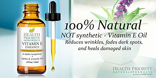 Vitamin e oil on your face