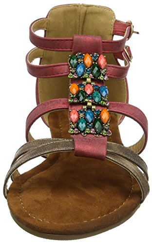 Spartiates Femme Red Rouge Sandals Sunset Gold Browns A Joe Arabian qwnSI7R0