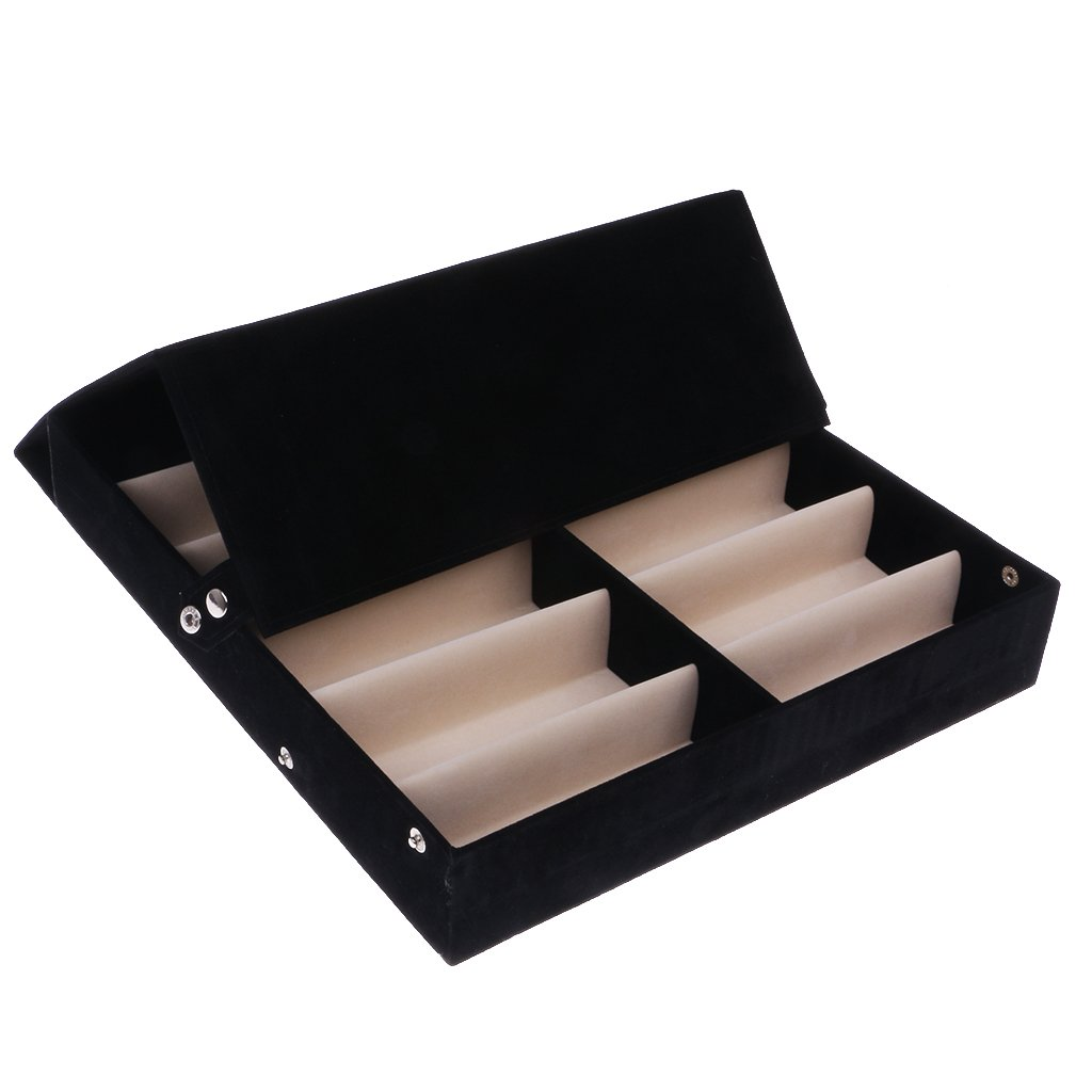 CUTICATE 12 Pairs Sunglasses Glasses Retail Shop Display Storage Stand Case Box Tray