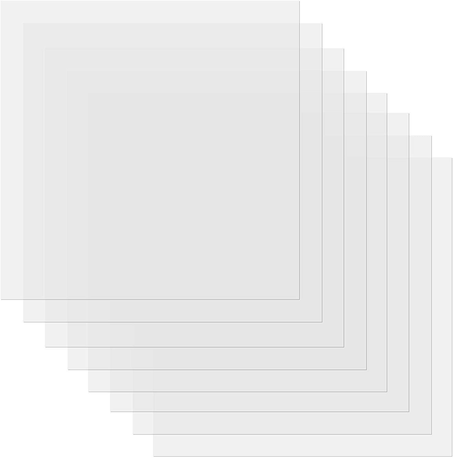 4 mil Clear Stencil Sheets 12 X 12 Inch - 20 Pieces - Craft Plastic, Blank Mylar Templates, Square Blank Stencil Material Mylar Template Sheets for Stencils