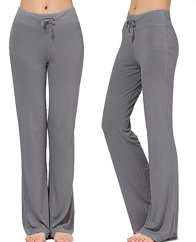 Dark Grey NB Women's Long Modal Comfy Drawstring Trousers Loose StraightLeg for Yoga Running Sporting