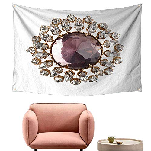 (alsohome Bedroom Tapestry Wall Hanging Square Tapestry for Living Room Vintage Brooch 91