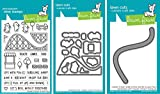 Lawn Fawn - Coaster Critters - Stamp and Dies Set - Coaster Critters Stamp, Die and Slide On Over Add-On Die - 3 Item Bundle