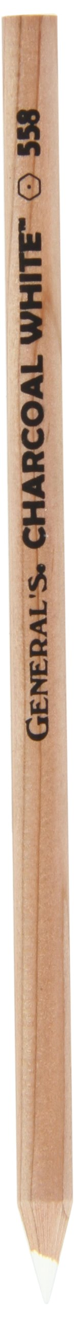 General's Charcoal White Pencil, Number 2 558, Pack of 12 by GENERAL'S