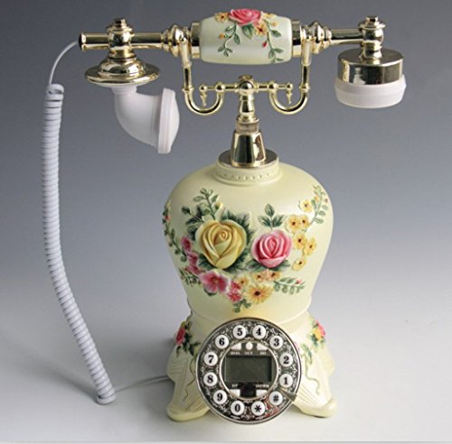 Edge To Corded Telephones Continental Creative Antique Phone Home Accessories Landline Resin Painting Handicraft Phone from Edge To