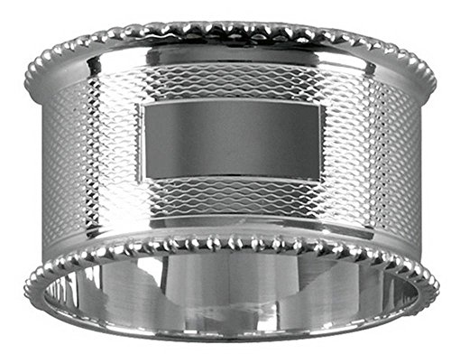 Silver Bead Edge Engraved Napkin Ring by Orton West by Orton West