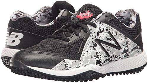 New Balance Boys' TY4040 Turf Baseball Shoe, Black/White, 6 M US Big Kid by New Balance (Image #6)