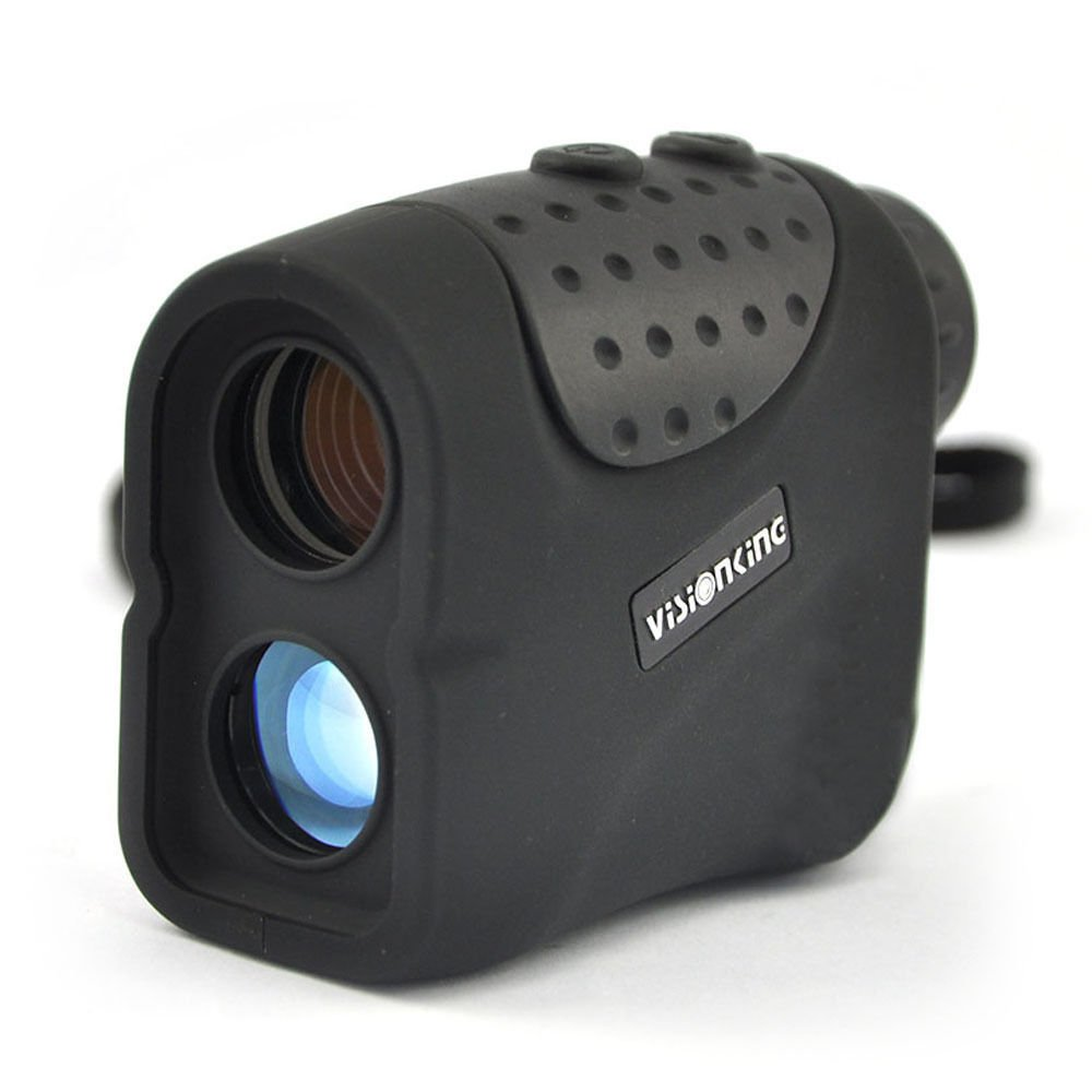 Visionking Range Finder 6x21 built-in USB rechargeable lithium battery Laser Rangefinder with Hunting Golf Rain Mode 1000m New (Black)