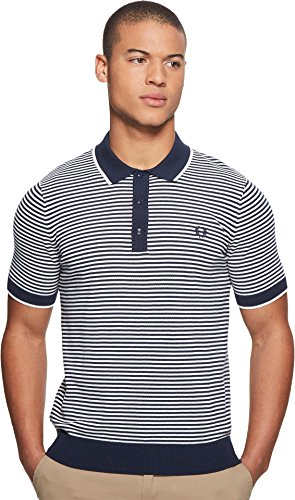 Fred Perry  Men's Fine Stripe Knitted Shirt Deep Carbon X-Large by Fred Perry (Image #3)