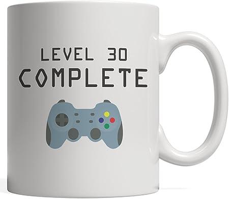 Tasse Complete Niveau 30 Cadeau De Jeu Cool Geek Pour Les Amateurs De Jeux Video De 30 Ans Pour Celebrer Leur Joyeux 30e Anniversaire En Tant Qu Accomplissement Debloque Avec Manette
