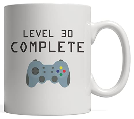 Amazon.com: Nivel 30 Taza completa – Cool Geek Gaming regalo ...