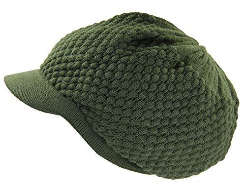RW Unisex Cotton Rasta Beanie Visor (More Colors) (Olive Green)