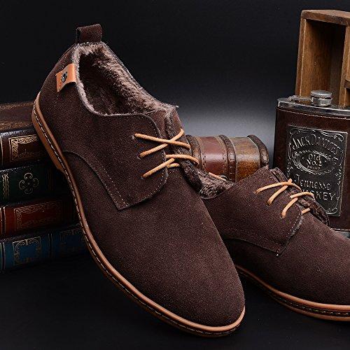 Cordones AARDIMI Zapatos 2 con Braun Planos Hombre Fxxw0rBt