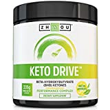 KETO DRIVE Exogenous Ketone Performance Complex - BHB Salts - Formulated for Ketosis, Energy, Focus and Fat Burn - Patented Beta-Hydroxybutyrates (Calcium, Sodium, Magnesium) - Matcha Lemonade