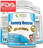 ** REVOLUTIONARY NATURAL ANXIETY RESCUE ** Premium Herbal Anxiety And Depression Aid - Simply The Best Stress & Anxiety Formula Ever Made - BEAT ANXIETY NATURALLY