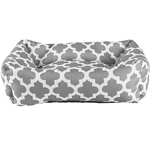Harmony Grey Lattice Print Nester Dog Bed, 24