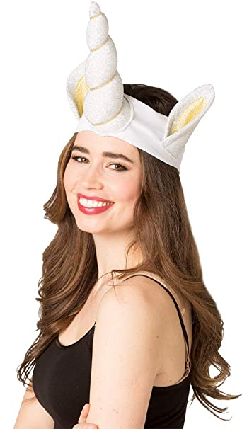 a7959b5bacd Amazon.com  Rasta-Imposta Adult Unicorn Headband Funny Theme Party  Halloween Accessory Hat  Clothing