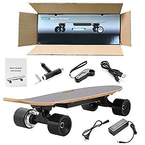 Longboard Skateboard Electric City Scooter Longboard Électrique avec Commande À Distance Et De La Portée du Moteur Ca Vitesse 10 Km 20 Km/H, D