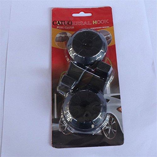 Color negro Swiftswan 2 unids//par multifunci/ón de tipo oculto coche asiento gancho trasero accesorios automotrices