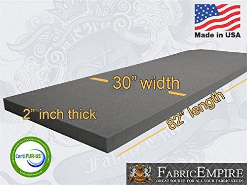 "30"" X 82"" Upholstery Rubber Foam Sheet Cushion (Seat Replacement, Foam Padding) USA Made NF33 (2"" x 30"" x 82"" Rubber Foam Sheet)"