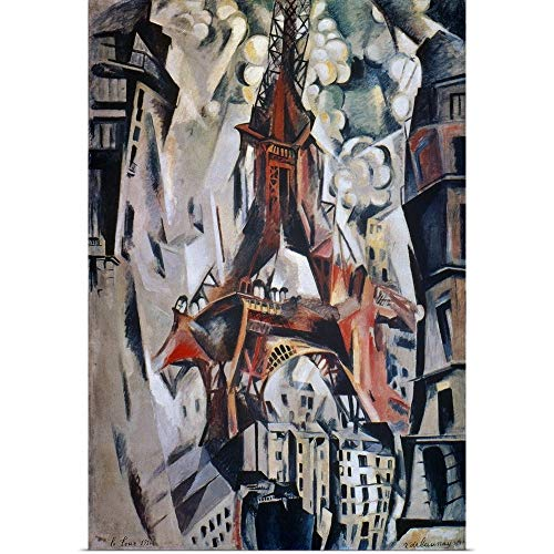 (GREATBIGCANVAS Poster Print Entitled Eiffel Tower, 1910 by Robert Delaunay 12
