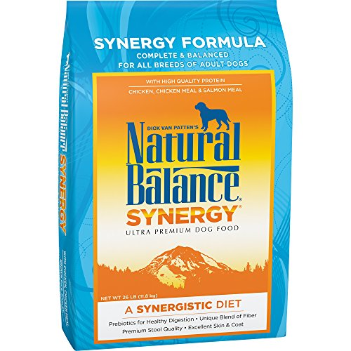 Natural Balance Synergy Chicken, Chicken Meal & Salmon Meal Dry Dog Food, 26 Pounds, Prebiotics
