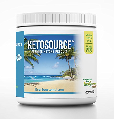 Keto Source, Premier Ketosis Product, Exogenous Ketones Beta-Hydroxybutyrate BHB, Medium Chain Triglyceride MCT Oil, 23.3 Ounces (660 Grams), Island Tropics Flavor by EnerSource