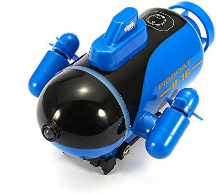 KINGDUO Mini Micro Radio Control Remoto RC Sub Barco Submarino Explorador