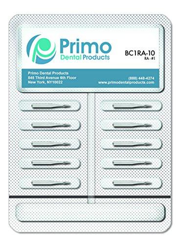 Primo Dental Products BC557LFG10 Carbide Burs, 557 Long FG (Pack of 10)