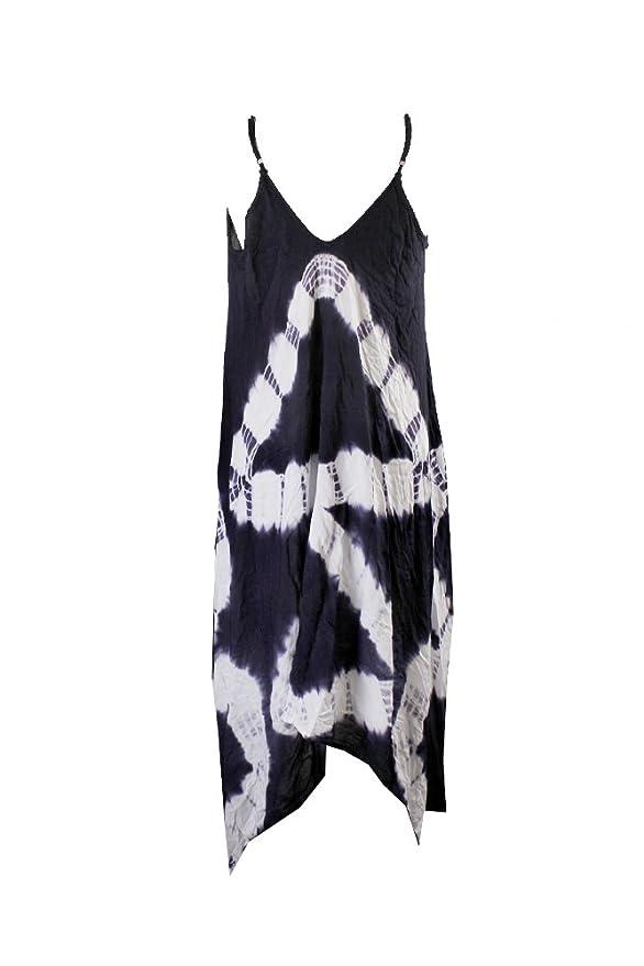 1685e8f0e59 Raviya Plus Size Tie Dye Swimwear Cover Up - Blue -: Amazon.co.uk: Clothing