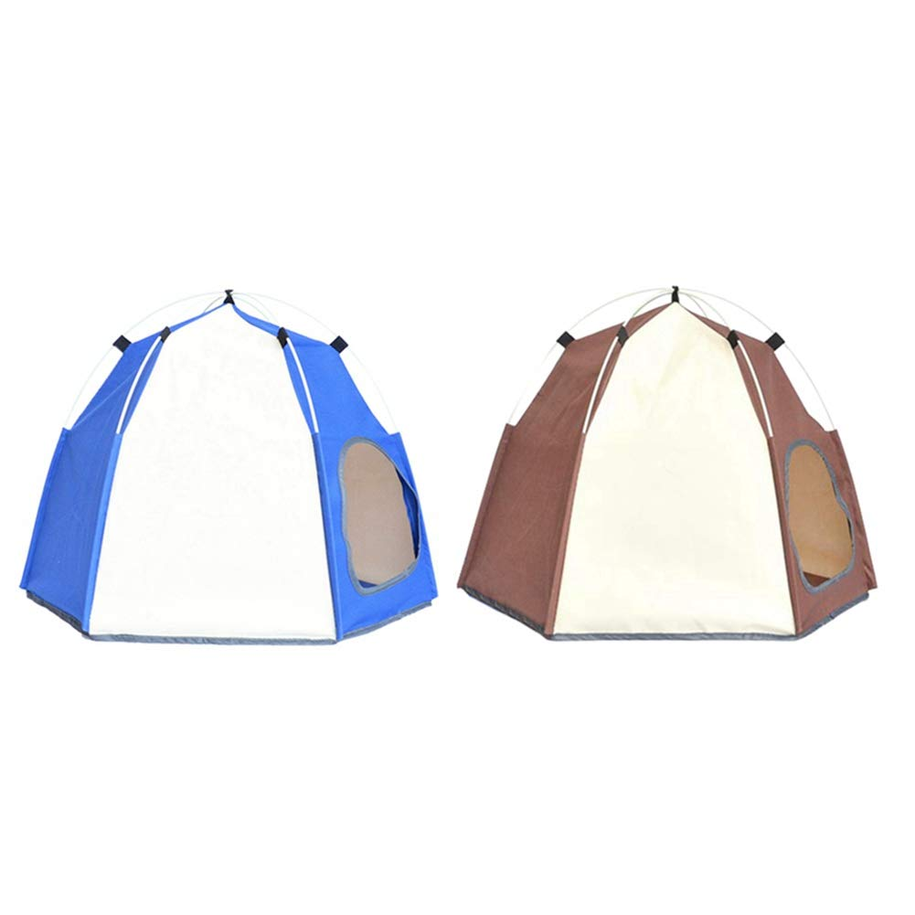 Savlot 6 angoli pieghevole tenda portatile cane da compagnia gatto allaperto tenda pieghevole da campeggio maglia protezione solare cuccia cuccia allaperto