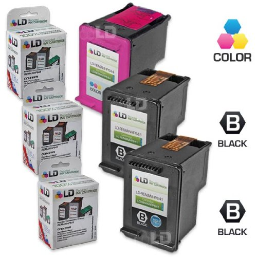 LD Remanufactured Ink Cartridge Replacements for HP CC641WN (HP 60XL) Black and HP CC644WN (HP 60XL) Color (2 Black and 1 Color)