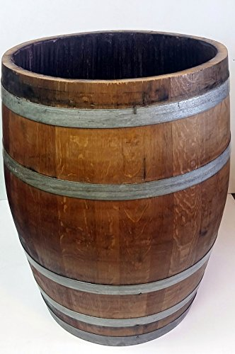 Lacquered Full Wine Barrel Planter