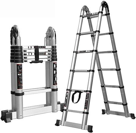 Escalera telescópica HWF Plegable En Forma De A Loft Escalera Extensible Desmontable, Escalera De Tijera Multiusos De Aluminio para El Hogar/Oficina/Engineeringg: Amazon.es: Hogar