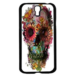 Colorful Floral Skull Hard Snap on Phone Case (Galaxy s4 IV)