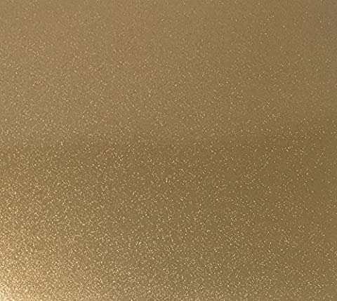 Qbc Craft 12x10 Gold Glitter Permanent Adhesive Vinyl Sheets (5 Pack) for Cricut Expression Explore Silhouette Cameo make Adhesive Backed Vinyl Decals (Scan N Cut Sticker)
