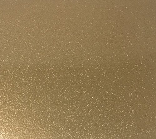 Qbc Craft 12x10 Gold Glitter Permanent Adhesive Vinyl Sheets (5 Pack) for Cricut Maker Expression Explore Silhouette Cameo Make Adhesive Backed Vinyl Decals (Premium Cast Vinyl Film)