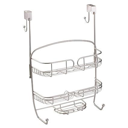 Amazon.com: InterDesign Neo Over Door Shower Caddy – Bathroom ...