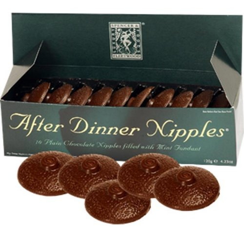 After dinner nipples - 10 nipple chocolate filled w/mint fondant