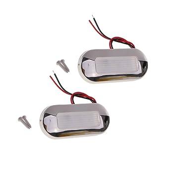 Sharplace 1 Par Lámparas de Cortesía LED de Paso para RV Barco Autocaravana, Blanco: Amazon.es: Coche y moto