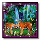 Cheap 3dRose dpp_12962_1 Tigers Fantasy Forest Wall Clock, 10 by 10-Inch