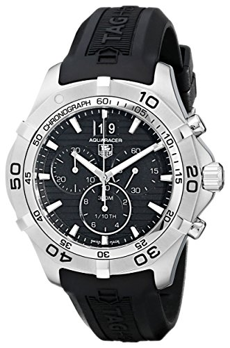 - TAG Heuer Men's CAF101E.FT8011 Rubber with Black Dial Watch