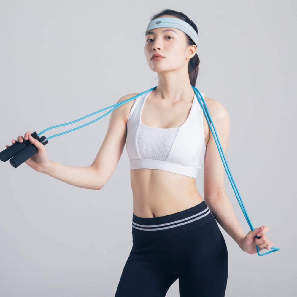 Blanchel Mens and Womens Non-slip Stretch Yoga Hair Band Sports Running Breathable Hair Band Sports and Fitness