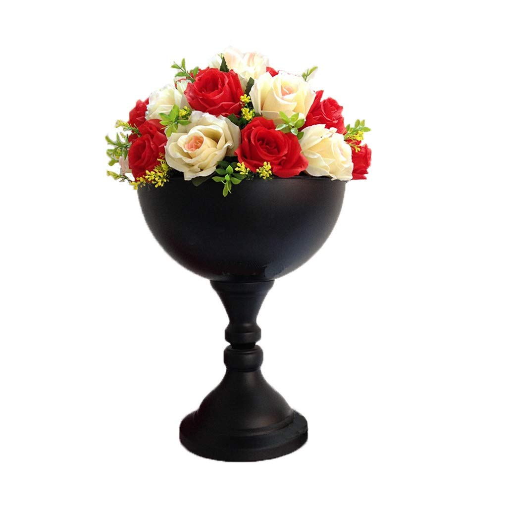 ordina ora con grande sconto e consegna gratuita DaPeng Flower Stand, Nero Nero Nero in Ferro battuto Wedding Road Guide Flower Pot Home Disposizione dei Fiori Lawn Romantic Decoration Ornaments (Without Flowers) (Dimensioni   One)  merce di alta qualità e servizio conveniente e onesto