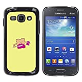 LASTONE PHONE CASE / Slim Protector Hard Shell Cover Case for Samsung Galaxy Ace 3 GT-S7270 GT-S7275 GT-S7272 / Bread Toast Yellow Cartoon Happy